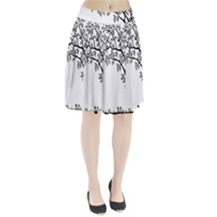 Flowers Landscape Nature Plant Pleated Skirt