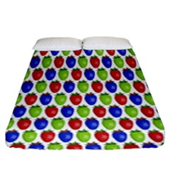 Colorful Shiny Eat Edible Food Fitted Sheet (king Size)