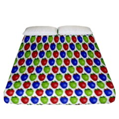 Colorful Shiny Eat Edible Food Fitted Sheet (california King Size)