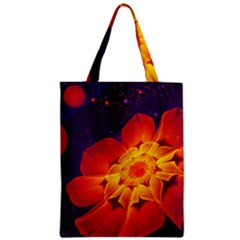 Royal Blue, Red, And Yellow Fractal Gerbera Daisy Classic Tote Bag