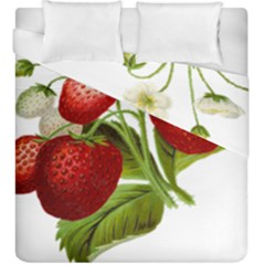 Food Fruit Leaf Leafy Leaves Duvet Cover Double Side (king Size) by Nexatart