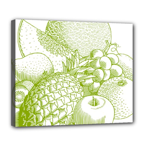 Fruits Vintage Food Healthy Retro Deluxe Canvas 24  X 20   by Nexatart