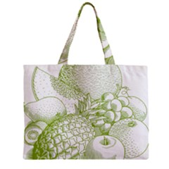 Fruits Vintage Food Healthy Retro Zipper Mini Tote Bag by Nexatart