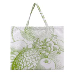 Fruits Vintage Food Healthy Retro Zipper Large Tote Bag by Nexatart