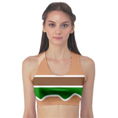 Hamburger Fast Food A Sandwich Sports Bra