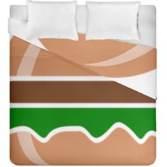 Hamburger Fast Food A Sandwich Duvet Cover Double Side (king Size) by Nexatart