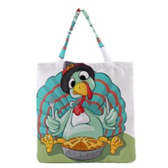 Pie Turkey Eating Fork Knife Hat Grocery Tote Bag by Nexatart