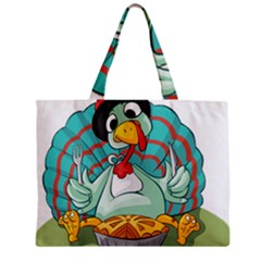 Pie Turkey Eating Fork Knife Hat Mini Tote Bag by Nexatart