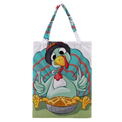 Pie Turkey Eating Fork Knife Hat Classic Tote Bag by Nexatart