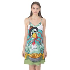 Pie Turkey Eating Fork Knife Hat Camis Nightgown