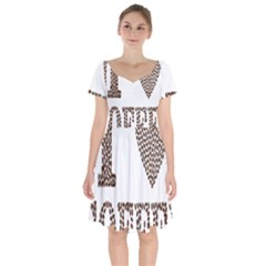 Love Heart Romance Passion Short Sleeve Bardot Dress