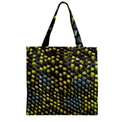 Lizard Animal Skin Zipper Grocery Tote Bag