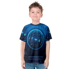 Technology Dashboard Kids  Cotton Tee by BangZart