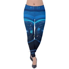 Technology Dashboard Velvet Leggings