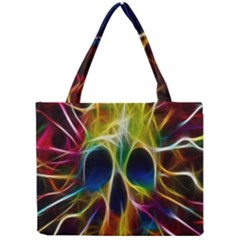 Skulls Multicolor Fractalius Colors Colorful Mini Tote Bag