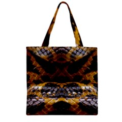 Textures Snake Skin Patterns Zipper Grocery Tote Bag by BangZart