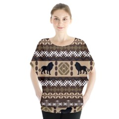Lion African Vector Pattern Blouse