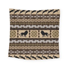 Lion African Vector Pattern Square Tapestry (small)