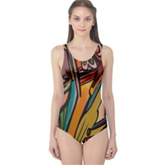 Vivid Colours One Piece Swimsuit by BangZart
