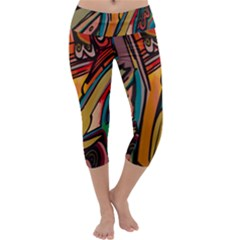 Vivid Colours Capri Yoga Leggings