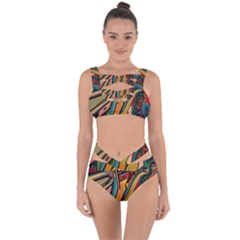 Vivid Colours Bandaged Up Bikini Set  by BangZart