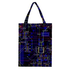Technology Circuit Board Layout Classic Tote Bag by BangZart