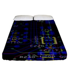 Technology Circuit Board Layout Fitted Sheet (king Size) by BangZart