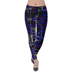 Technology Circuit Board Layout Velvet Leggings