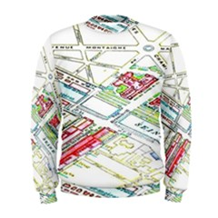 Paris Map Men s Sweatshirt