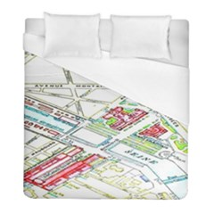 Paris Map Duvet Cover (full/ Double Size) by BangZart
