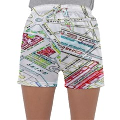 Paris Map Sleepwear Shorts