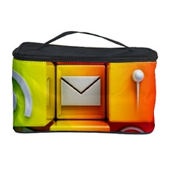 Colorful 3d Social Media Cosmetic Storage Case by BangZart