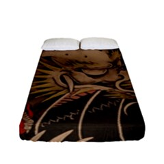 Chinese Dragon Fitted Sheet (full/ Double Size) by BangZart