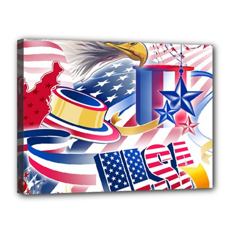 United States Of America Usa  Images Independence Day Canvas 16  X 12  by BangZart