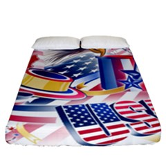 United States Of America Usa  Images Independence Day Fitted Sheet (california King Size) by BangZart