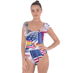 United States Of America Usa  Images Independence Day Short Sleeve Leotard