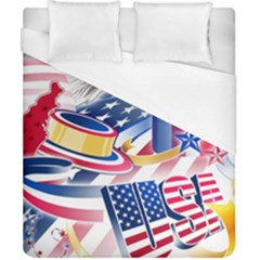 United States Of America Usa  Images Independence Day Duvet Cover (california King Size)