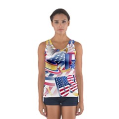 United States Of America Usa  Images Independence Day Sport Tank Top