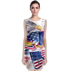 United States Of America Usa  Images Independence Day Classic Sleeveless Midi Dress