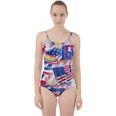 United States Of America Usa  Images Independence Day Cut Out Top Tankini Set