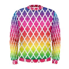 Colorful Rainbow Moroccan Pattern Men s Sweatshirt by BangZart