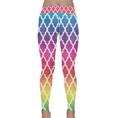 Colorful Rainbow Moroccan Pattern Classic Yoga Leggings