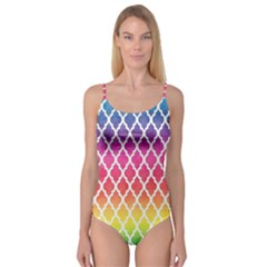 Colorful Rainbow Moroccan Pattern Camisole Leotard