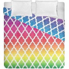 Colorful Rainbow Moroccan Pattern Duvet Cover Double Side (king Size)