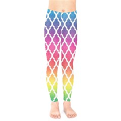 Colorful Rainbow Moroccan Pattern Kids  Legging