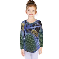 Chihuly Garden Bumble Kids  Long Sleeve Tee