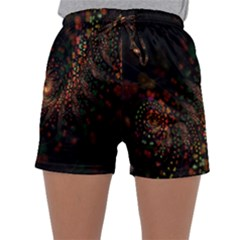 Multicolor Fractals Digital Art Design Sleepwear Shorts