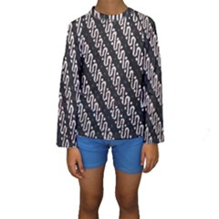 Batik Jarik Parang Kids  Long Sleeve Swimwear