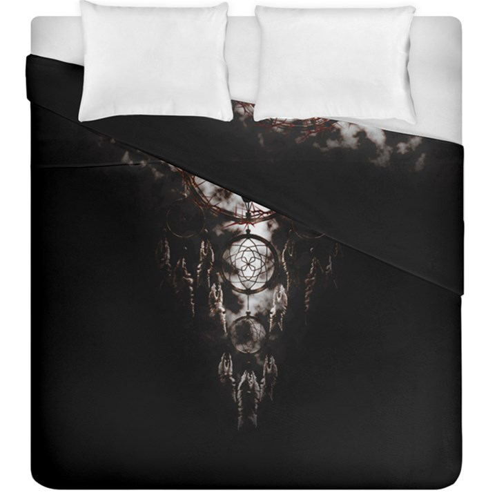 black background Duvet Cover Double Side (King Size)