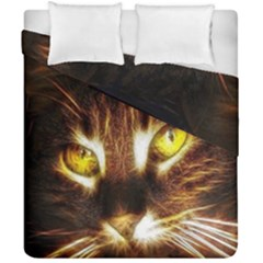 Cat Face Duvet Cover Double Side (california King Size)